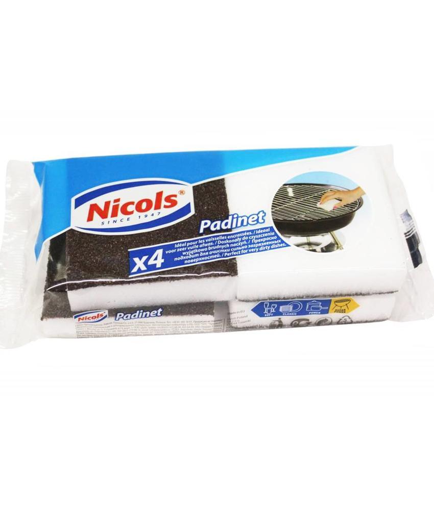 Nicols Padinet schuursponsjes 4 stuks