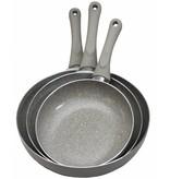 Haute Cuisine Pannenset 3-delig  Marble 20-24-28 cm.