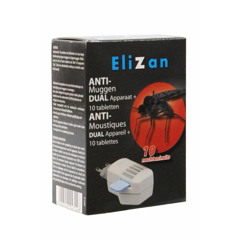 Elizan anti muggen apparaat  + 10  tabletten