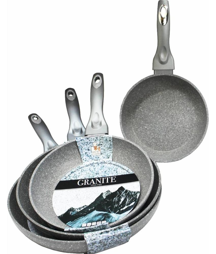 "Haute Cuisine Braadpan  ""Graniet""  Anti-Kleeflaag"