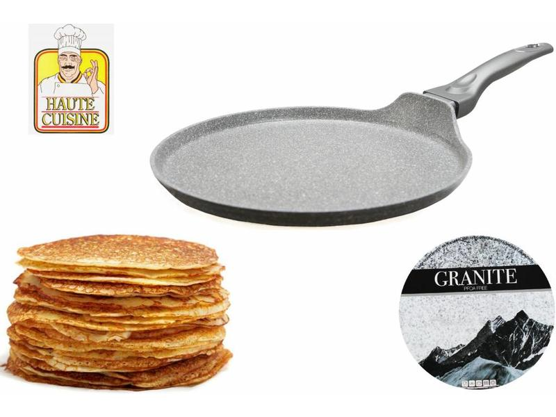 "Haute Cuisine Pannenkoekenpan  ""Graniet""  Anti-Kleeflaag 28 cm."
