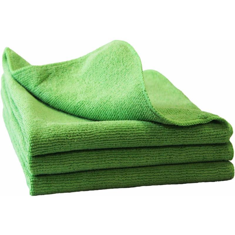 "Microvezeldoeken  3 st.  40x40cm  ""Ultra  cleaning cloth NOVO""   Groen"