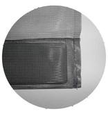Horgordijn  Kansas  Zwart  100x220 cm.