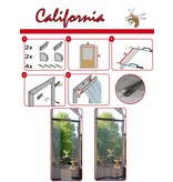 Horgordijn California 100x220 cm. Grijs