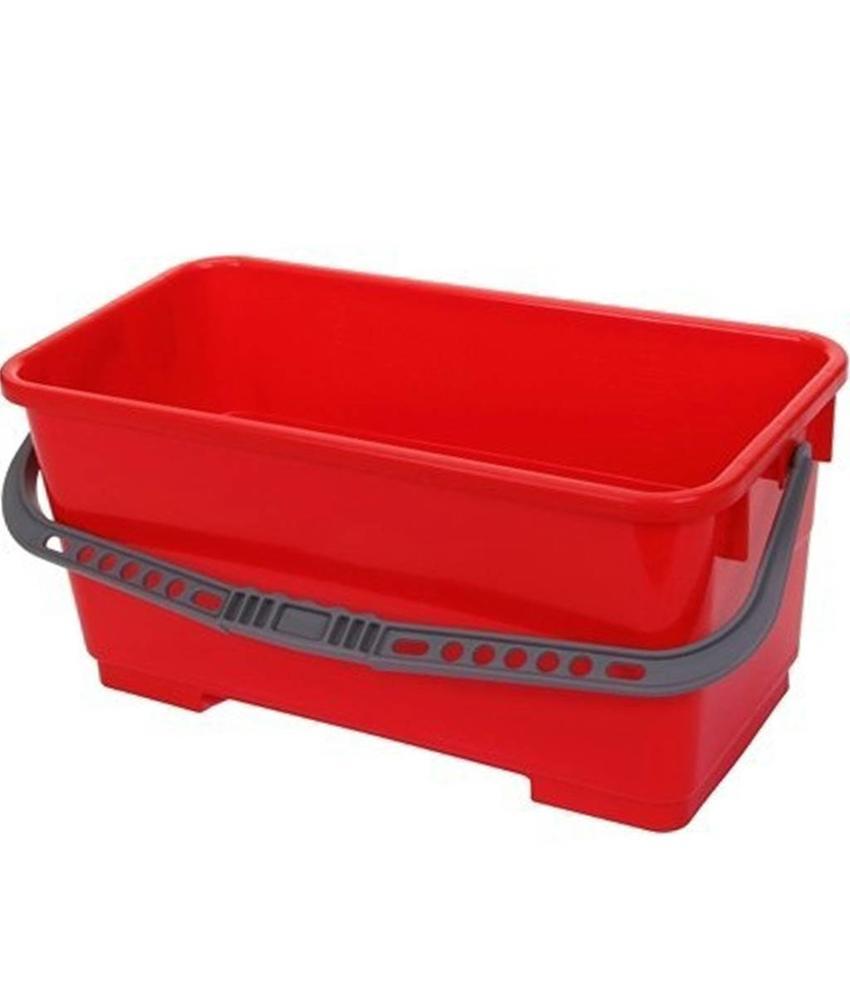 Emmer 22 liter rechthoekig  Rood