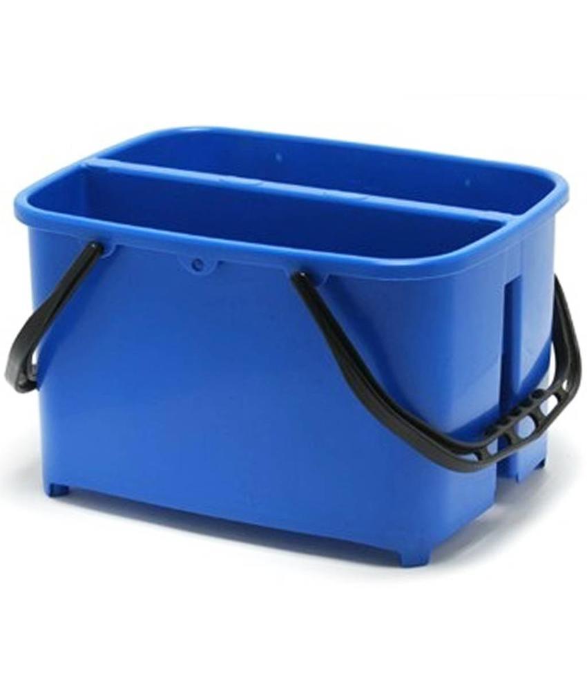 Emmer met 2 vakken   2 x 10 Liter  Blauw