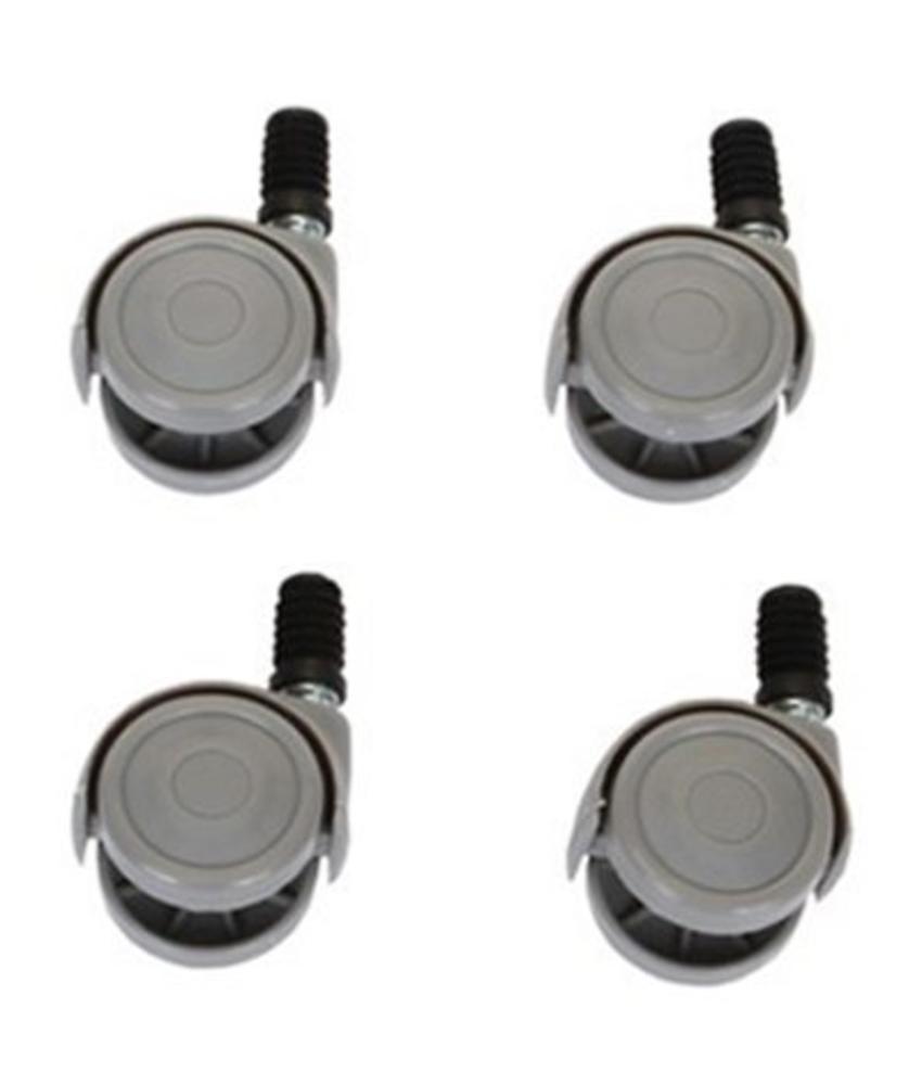 Set van 4 zwenkwielen voor emmer rechthoekig