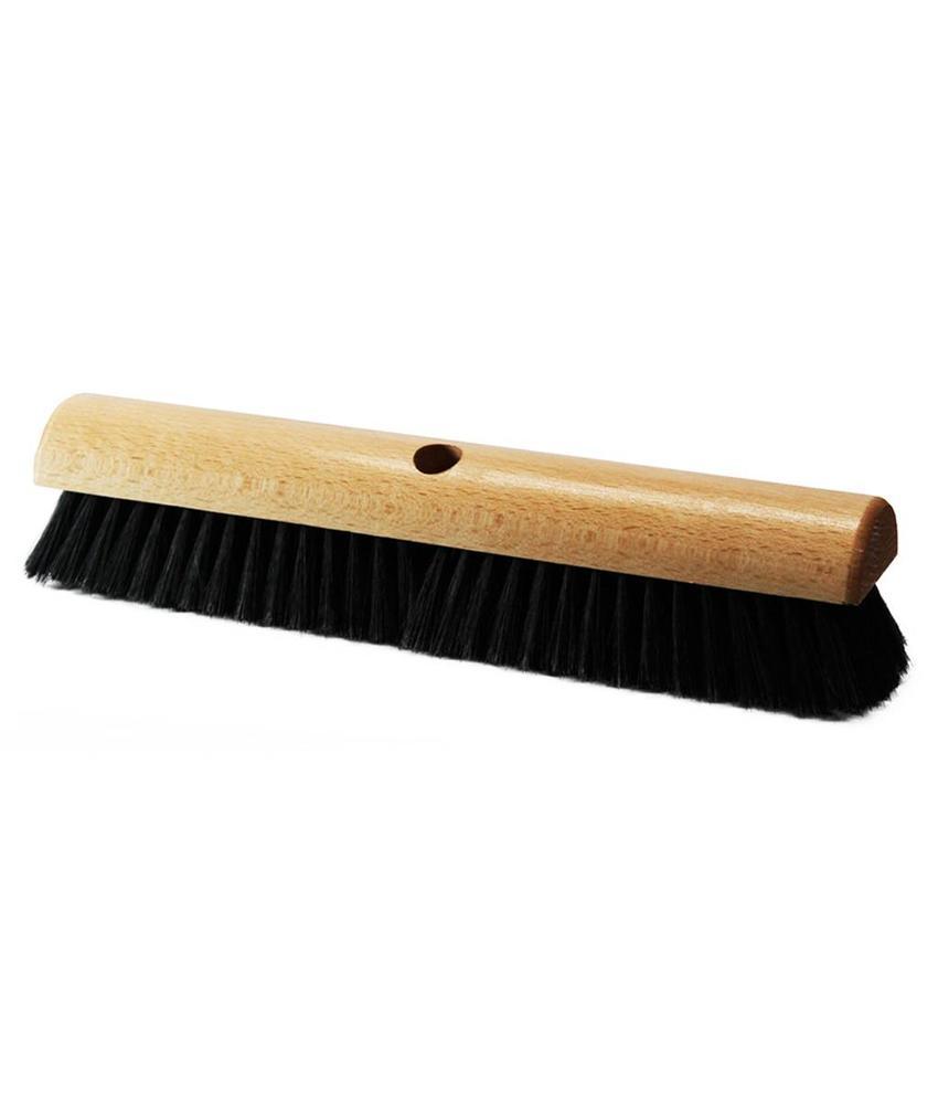 Kamerveger gelakt hout 40 cm - Zwart gemengd haar