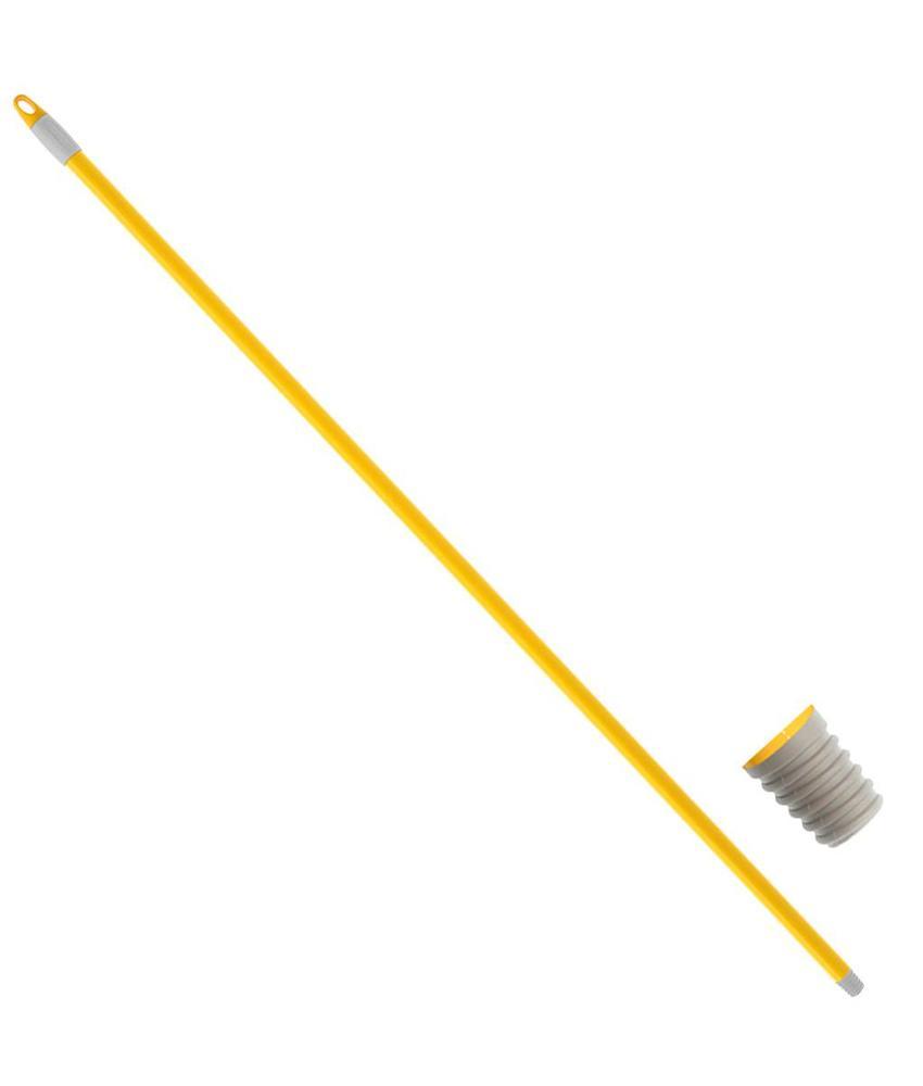 Borstelsteel Geel  gelakt 130 cm. Ø 21 mm.  It/dr