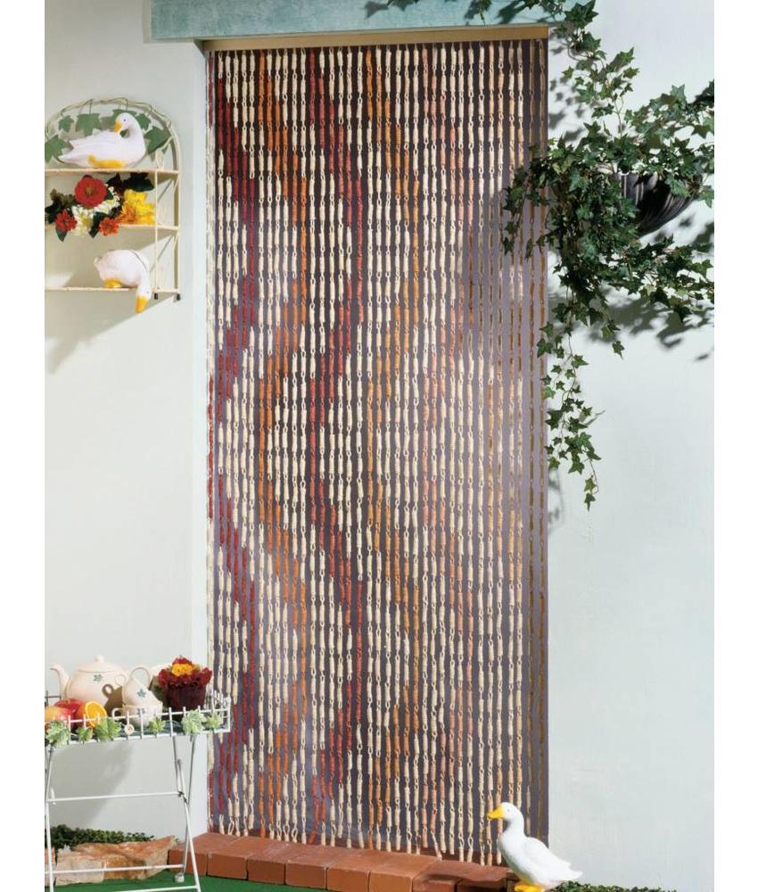 Vliegengordijn Maïs Serpentin, bruin/beige  90x200 cm