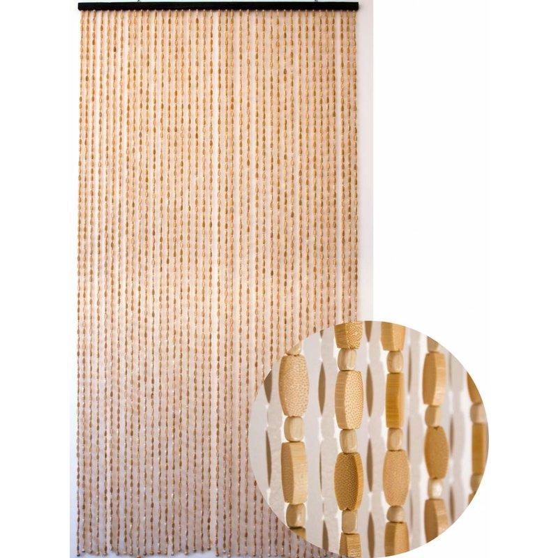 "Kralengordijn  ""Sumatra""  bamboe- houtkralen  90x200 cm"