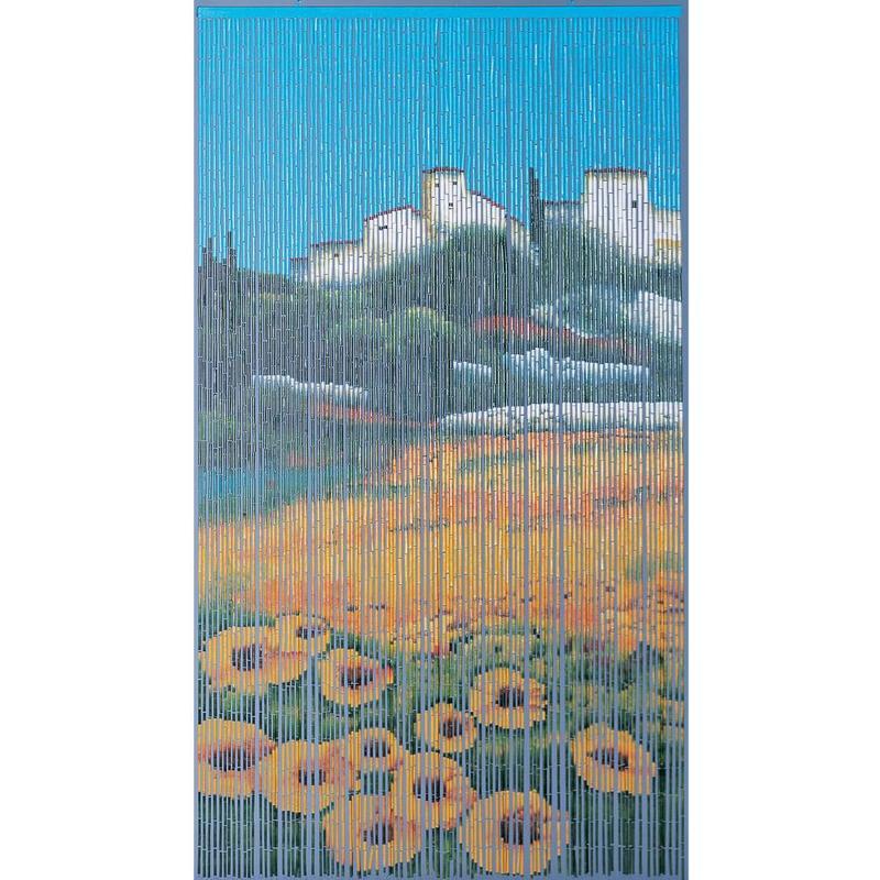 """Bamboe vliegengordijn """"Zonnebloem""""  90 x 200 cm"""