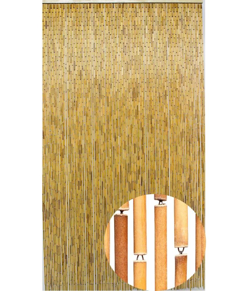 """Bamboe Vliegengordijn """"Naturel""""  90x200 cm"""
