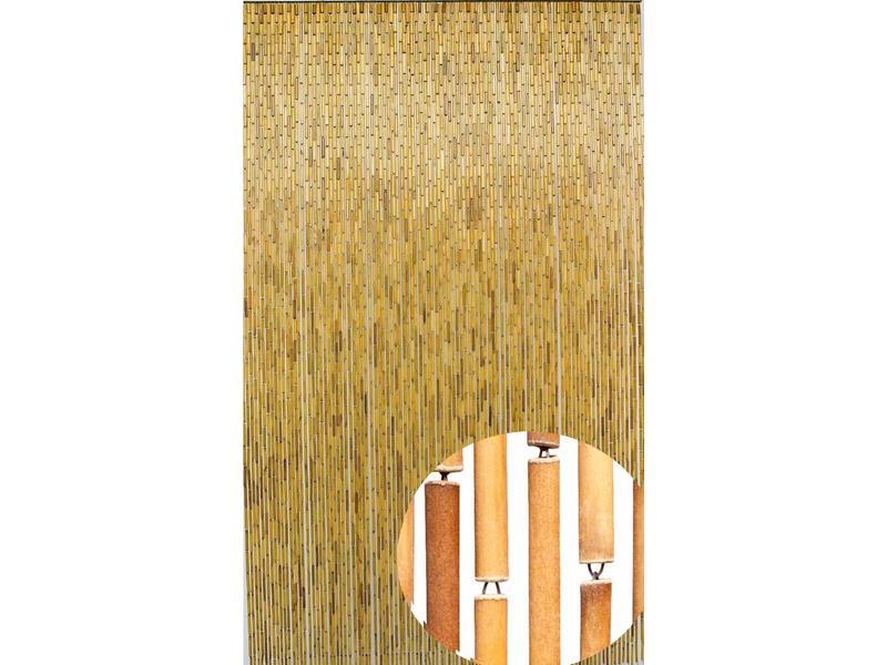 Vliegengordijn 110 Cm.Bamboe Vliegengordijn Naturel 100x220 Cm