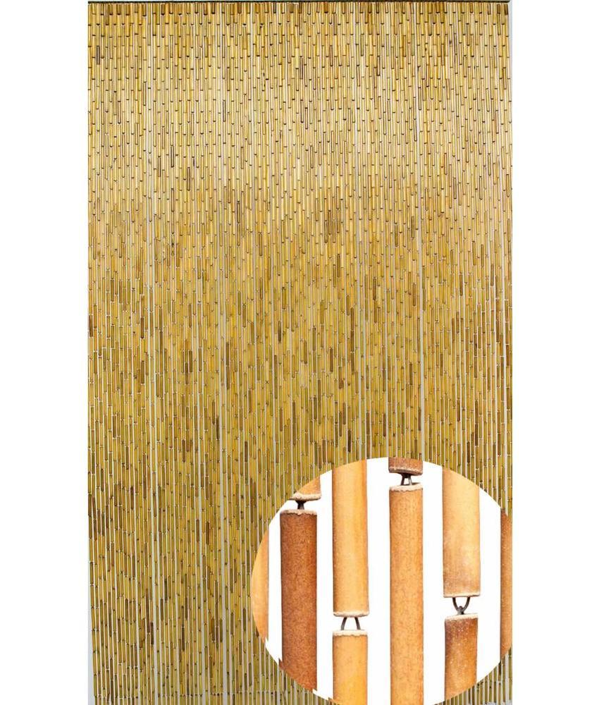 """Bamboe Vliegengordijn """"Naturel""""  100x220 cm"""