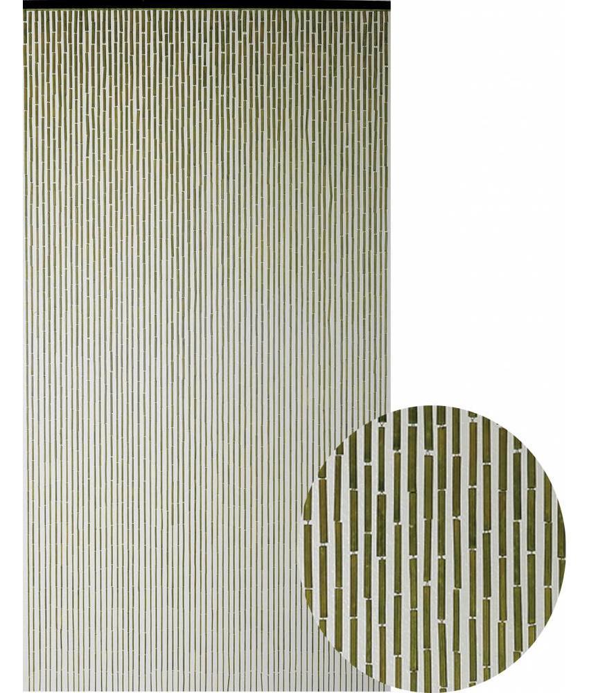 "Bamboe Vliegengordijn ""Kaki""  90x200 cm"