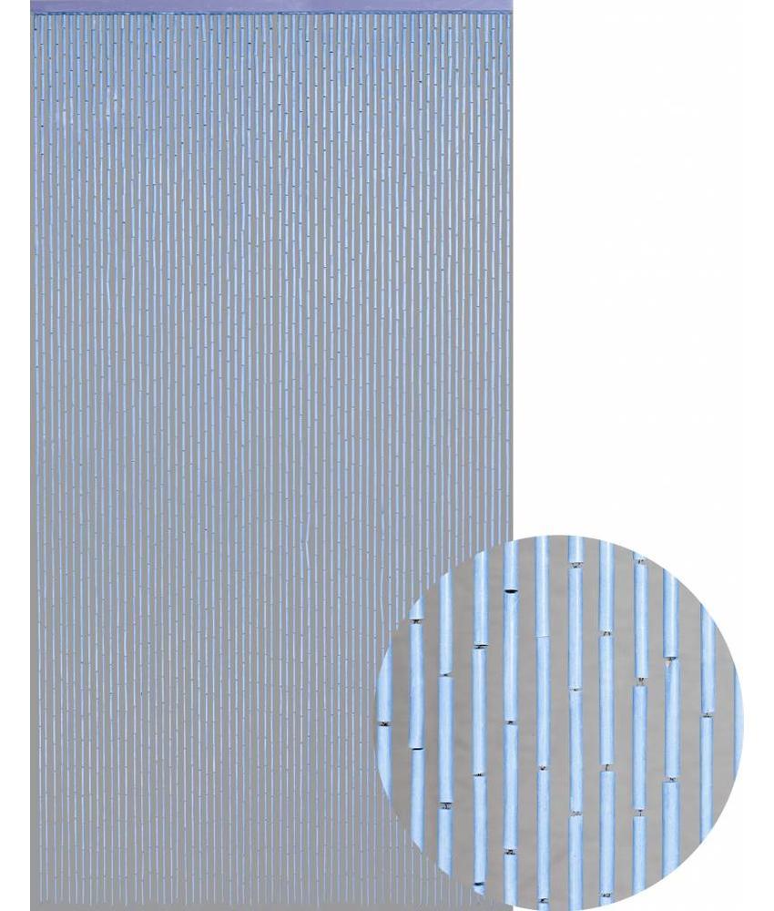 """Bamboe Vliegengordijn """"l. Blauw""""  90x200 cm"""