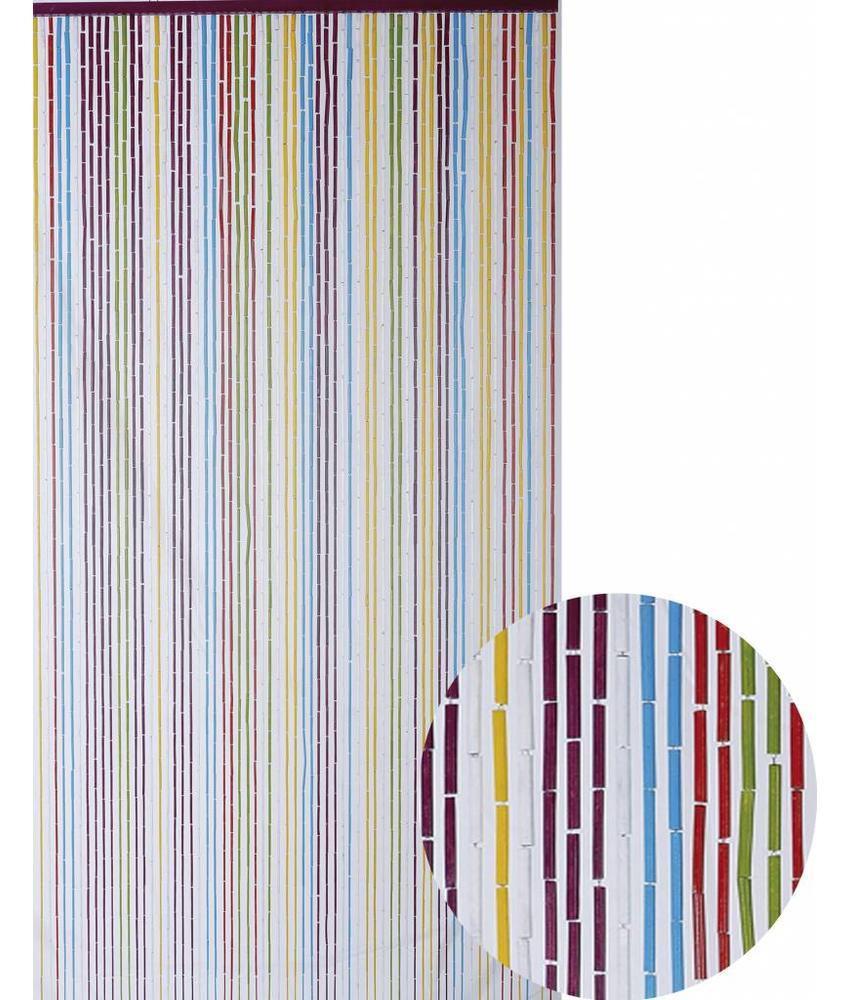 """Bamboe Vliegengordijn """"Multicolor""""  90x200 cm"""