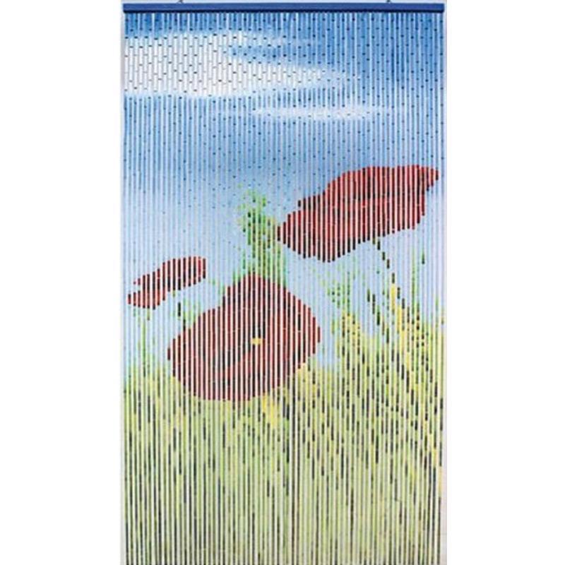 Vliegengordijn Met Print.Bamboe Vliegengordijn Bambousa 90x200 Cm Megatip Be