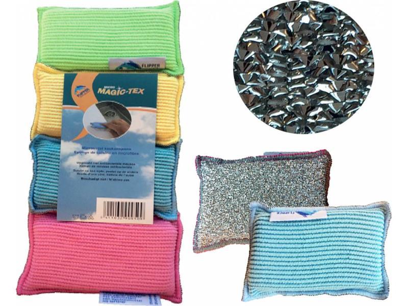 Flipper Dubbelzijdige keukenspons microvezel  (4 stuks)