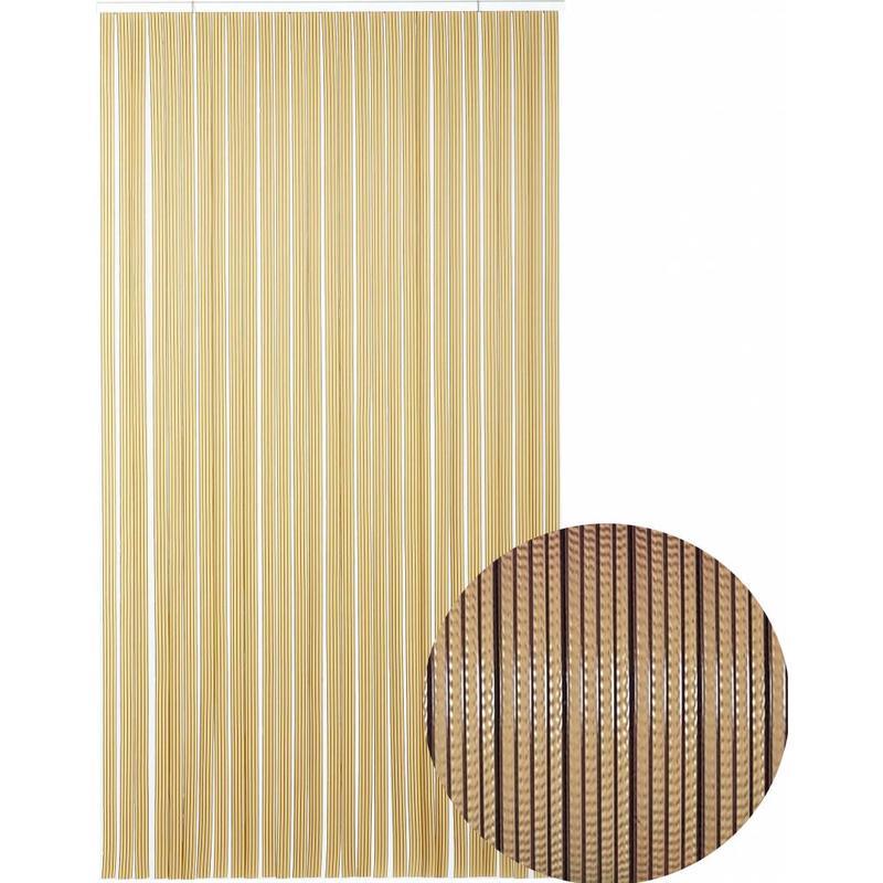 "Vliegengordijn PVC  ""Tahiti""  Bruin/beige"