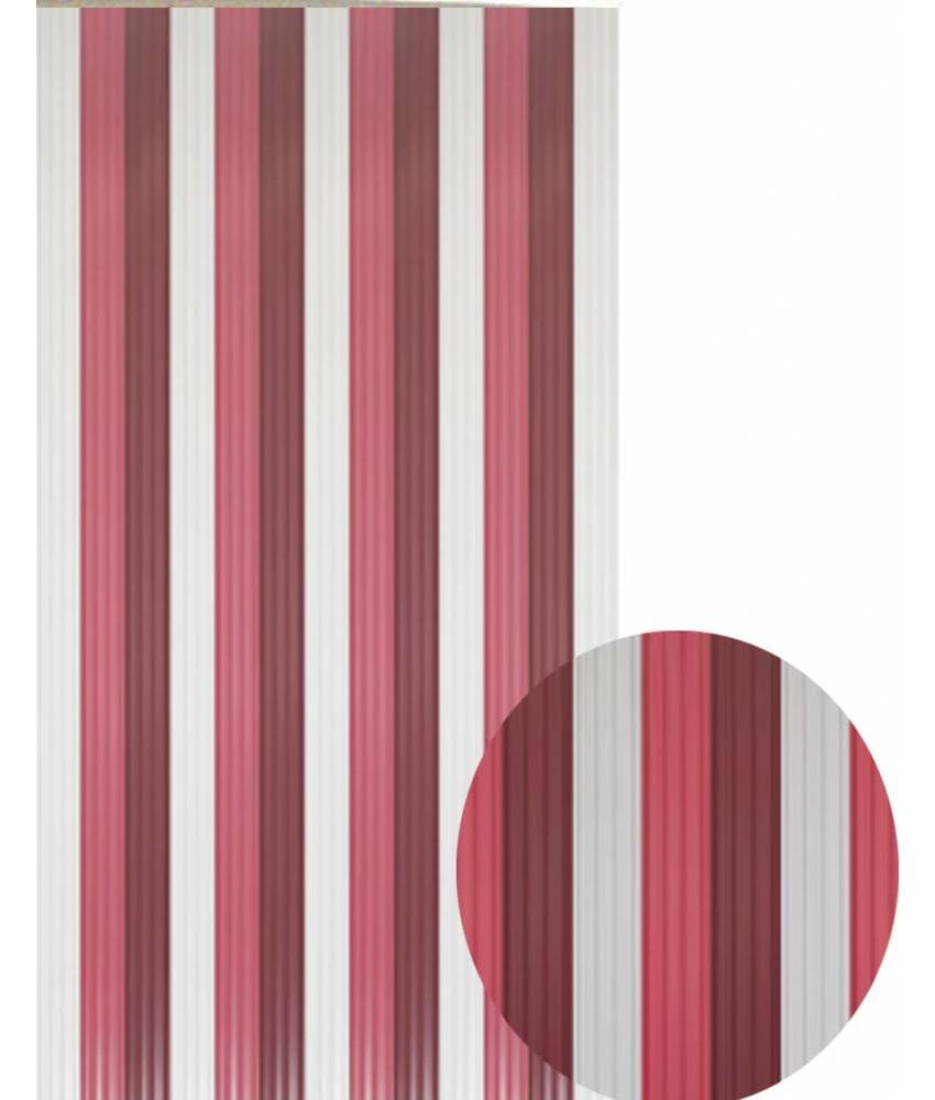 """Vliegengordijn PVC  """"Antilles""""   Bordeaux/Grijs 90x220 cm"""