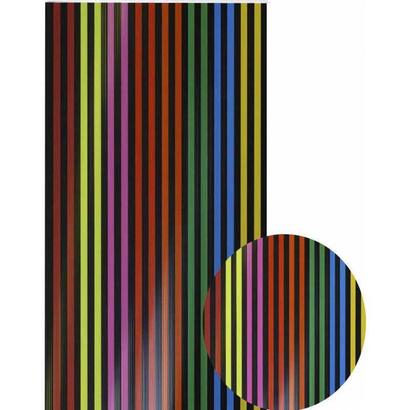 """Vliegengordijn PVC  """"Antilles""""   Multi Zwart  90x220 cm"""