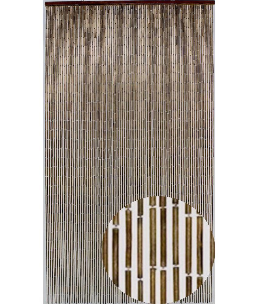 """Bamboe Vliegengordijn """"Mahonie""""  90x200 cm"""