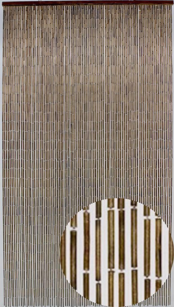 Vliegengordijn 110 Cm.Bamboe Vliegengordijn Mahonie 90x200 Cm