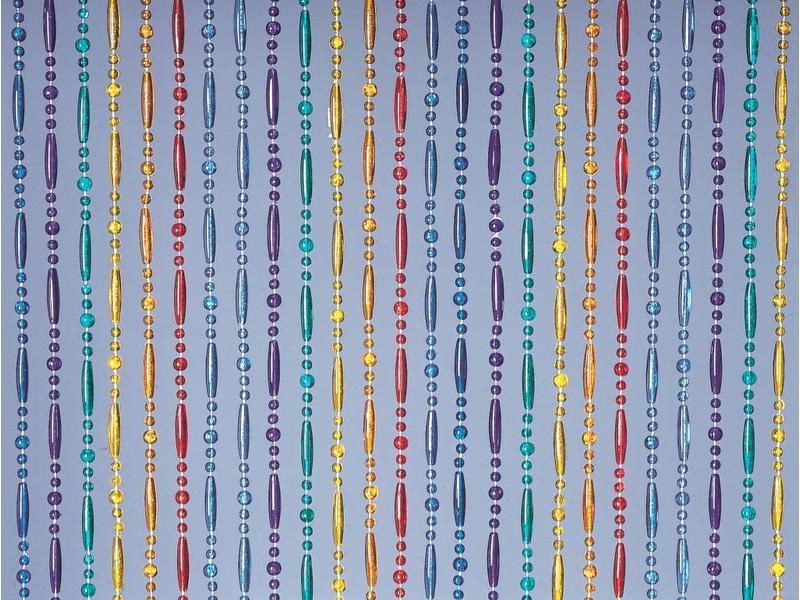 """Kralengordijn  """"Olivia"""" Regenboog  90x220 cm"""