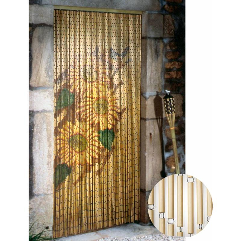 "Vliegengordijn 90 x 220 cm PVC bamboe ""Zonnebloem"""
