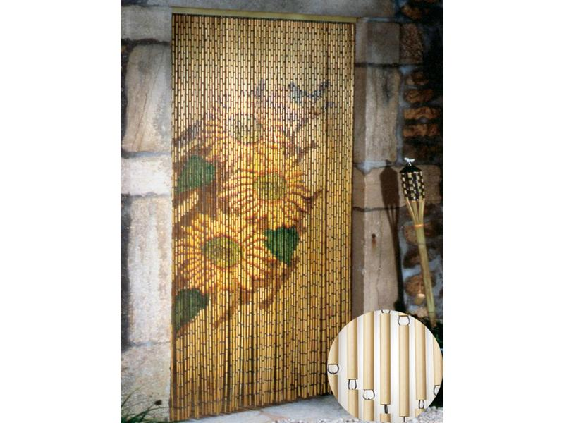 "Vliegengordijn PVC bamboe ""Zonnebloem"" 120 x 220 cm"