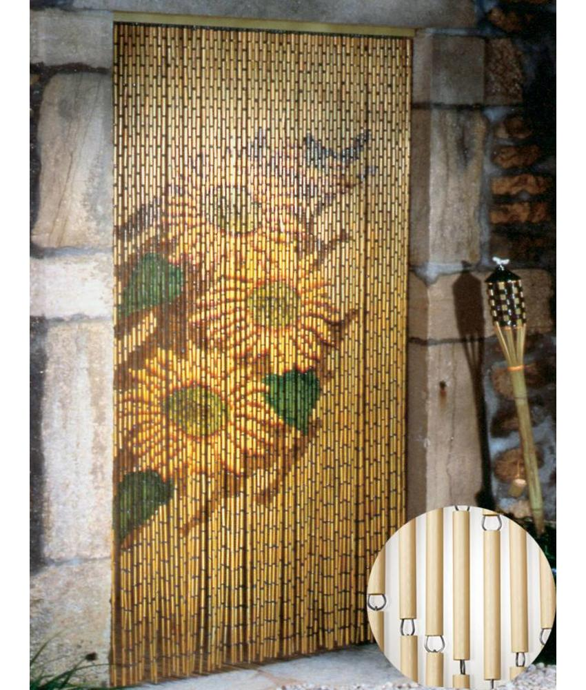 "Vliegengordijn 120 x 220 cm PVC bamboe ""Zonnebloem"""