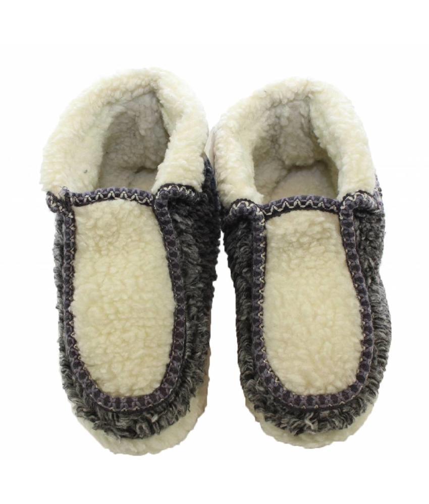Pantoffels met Pels Grijs / Wit