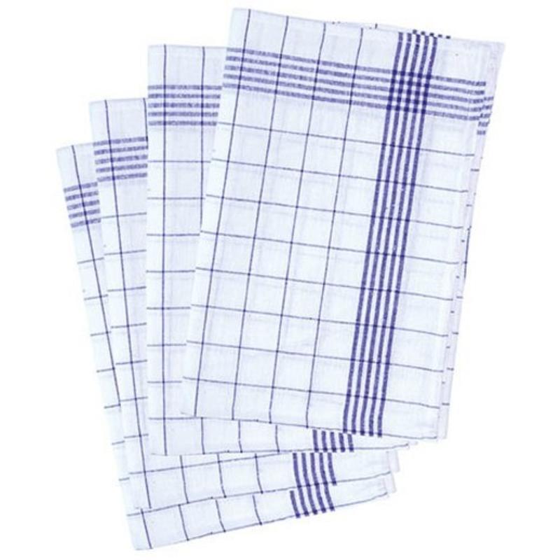 Geruite Theedoek  in katoen  (10 stuks)  Blauw
