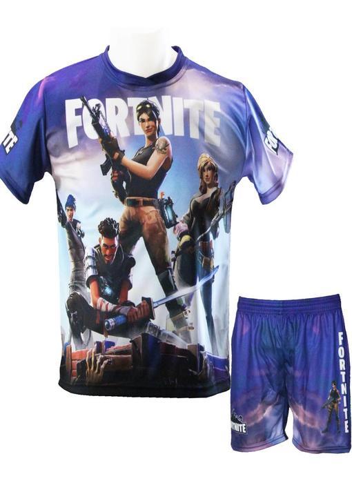 Fortnite  Shirt + Broekje   met print -  Polyester