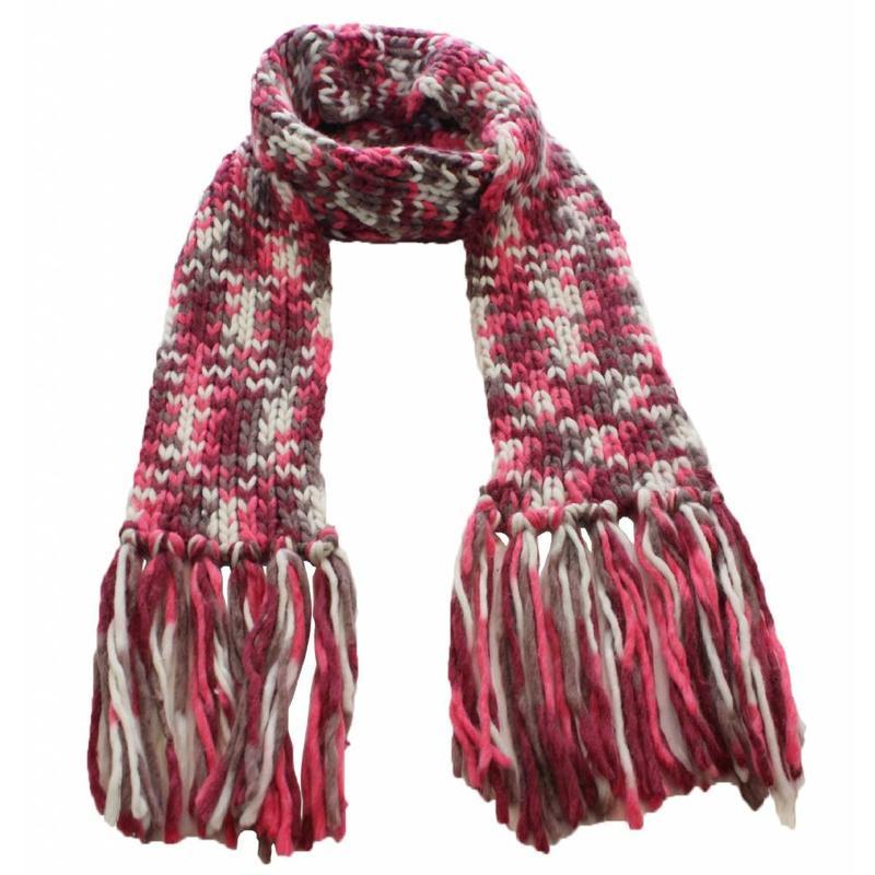 Sjaal gebreid Multy color