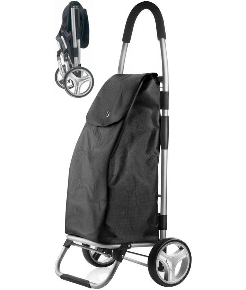 Boodschappentrolley - Shopping Cruiser Opvouwbaar - Zwart