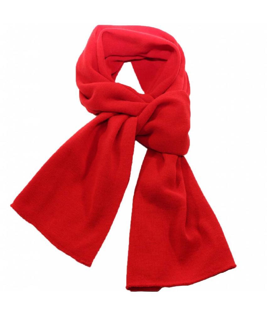 Sjaal gebreid effen Rood 180 x 30 cm