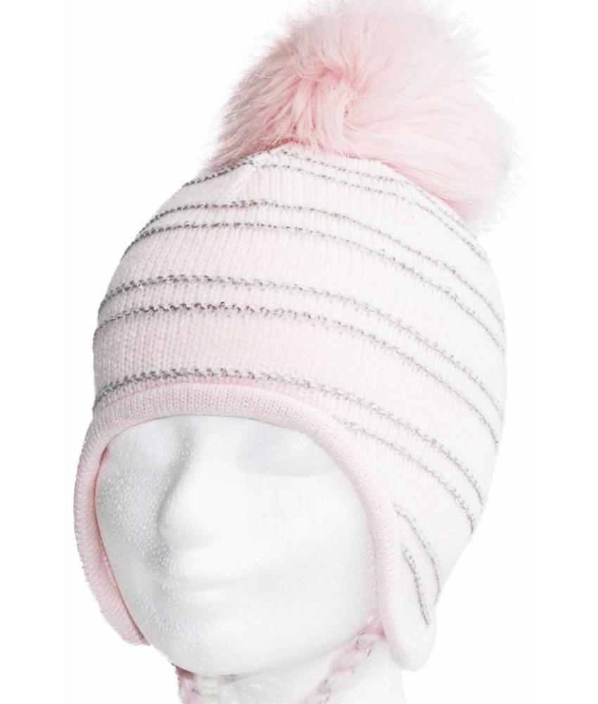 "Lapland Baby- Meisjesmuts pompon  ""Pink"""