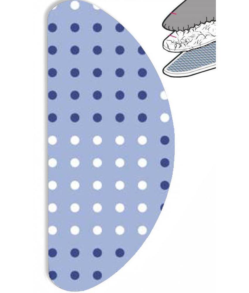 """Strijkplankhoes Banaan """"Dots  blue"""" met moltonlaag"""