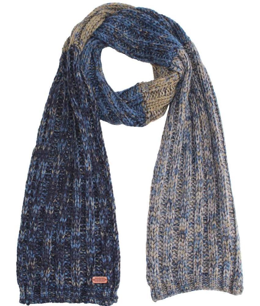 Gebreide Sjaal -  Blauw/Kaki