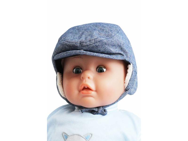 Baby- kinder pet met oorflappen  Blue
