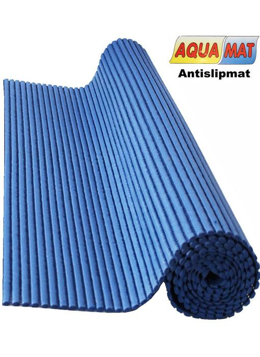 Aquamat antislipmat effen blauw  0,65 x 2  meter
