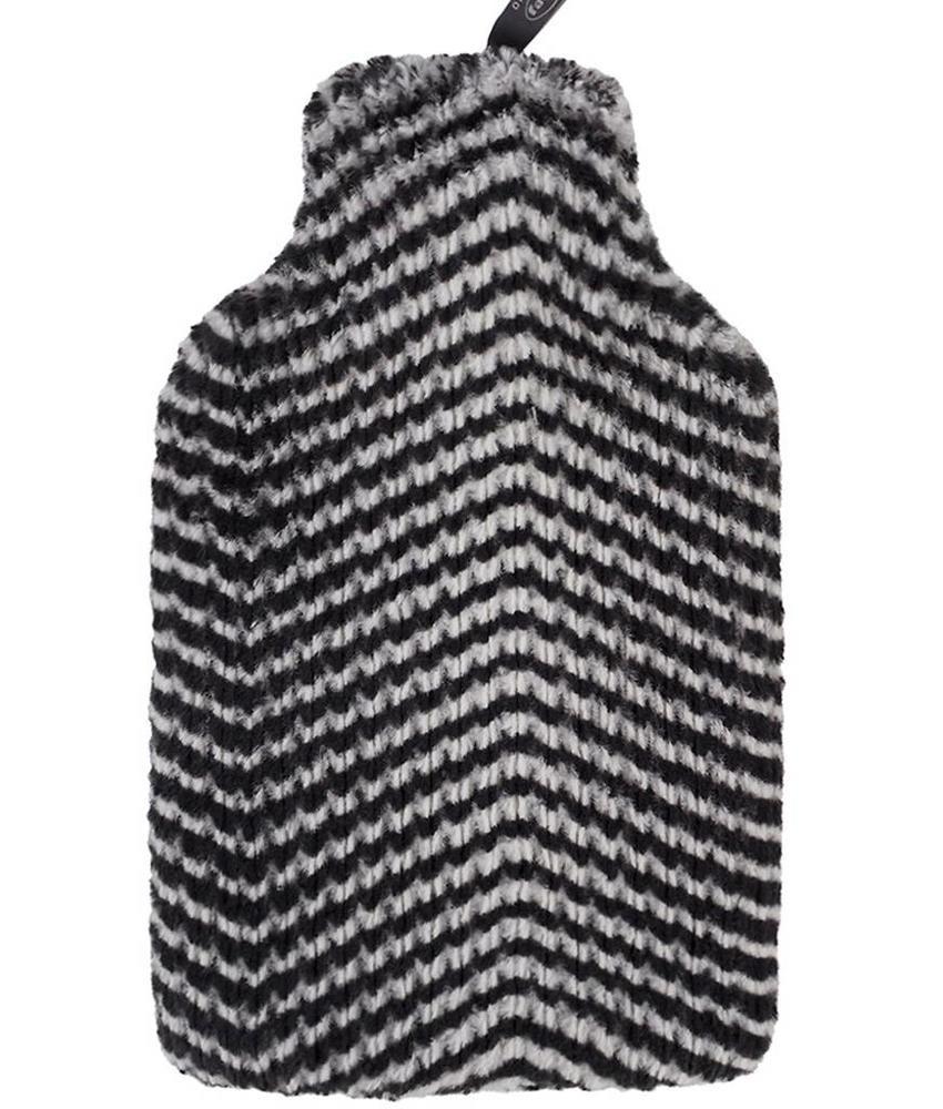 Fashy Warmwaterkruik 2 L. imitatiebont - Zebra look