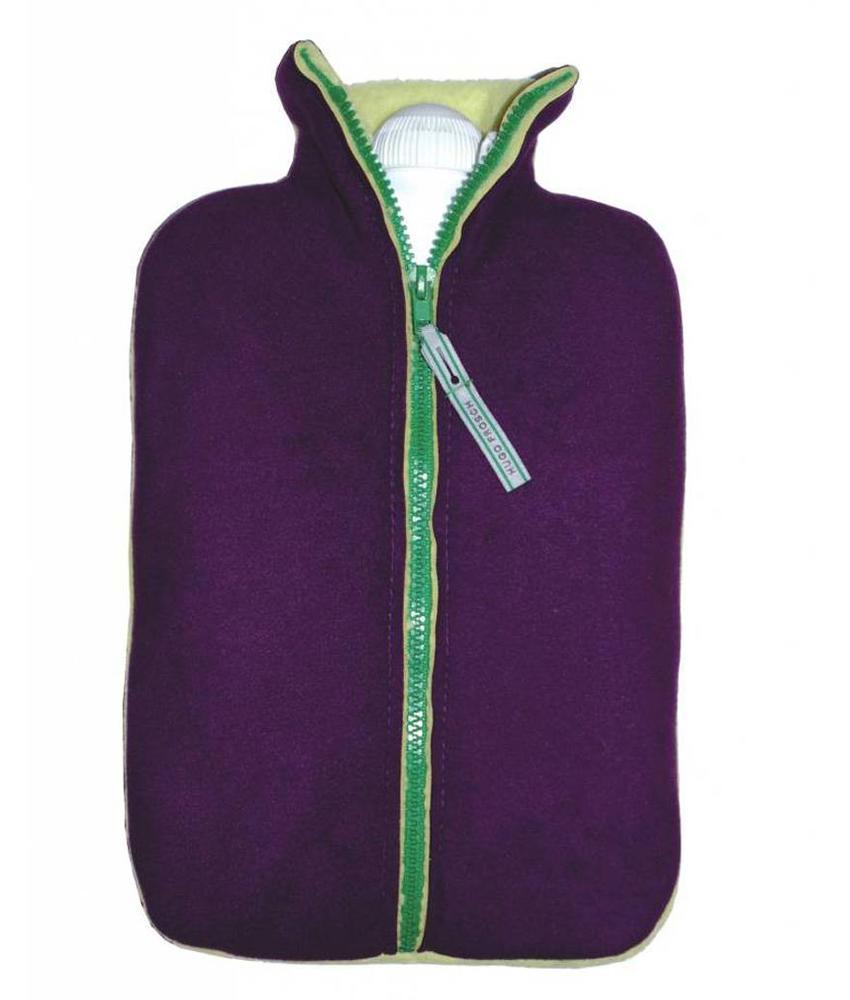 Warmwaterkruik Comfort dubbel fleece lila