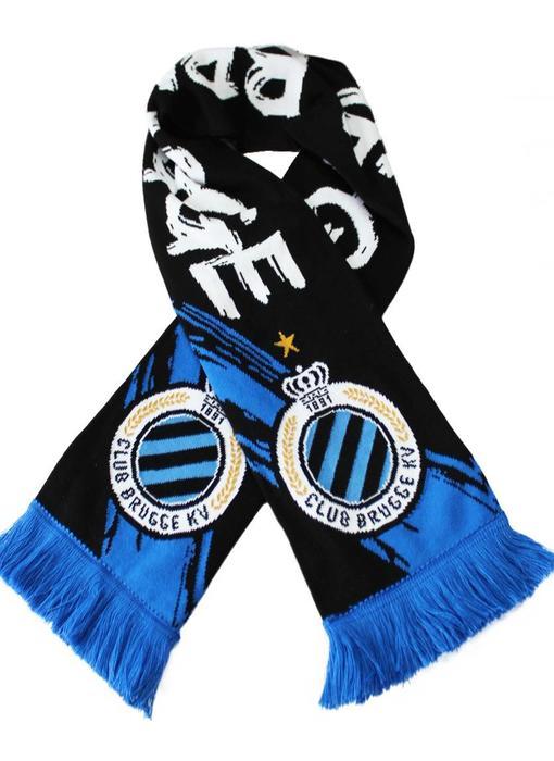 Supporterssjaal Club Brugge -  Zwart/Wit
