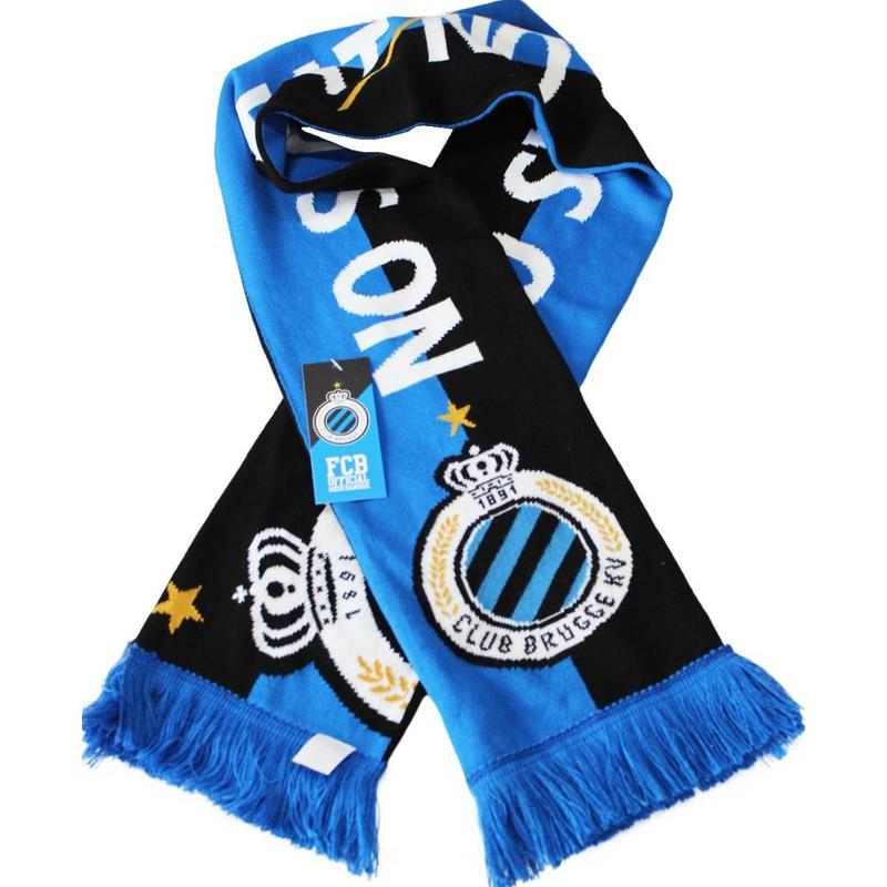 "Supporterssjaal Club Brugge  blauw/zwart ""No Sweat No Glory"""