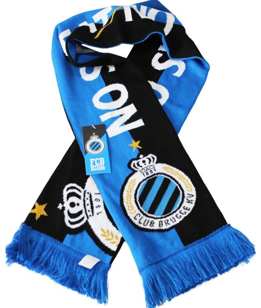 "Supporterssjaal Club Brugge  blauw/zwart ""No Sweat No Glory"""