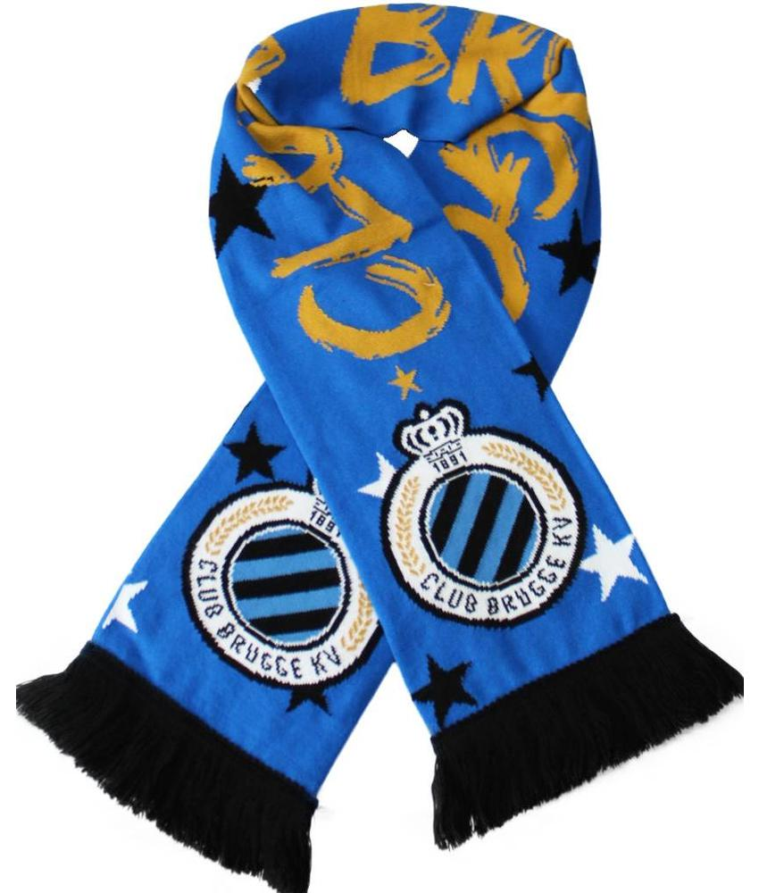 "Supporterssjaal Club Brugge  ""1891""  Gold"
